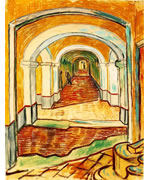Corridor in the Asylum by van Gogh